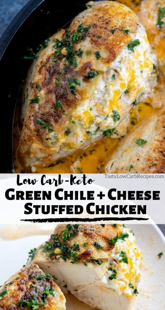 cheese stuffed chicken breast photo collage