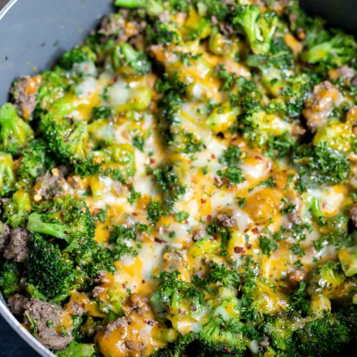 Low Carb Ground Beef and Broccoli Recipe