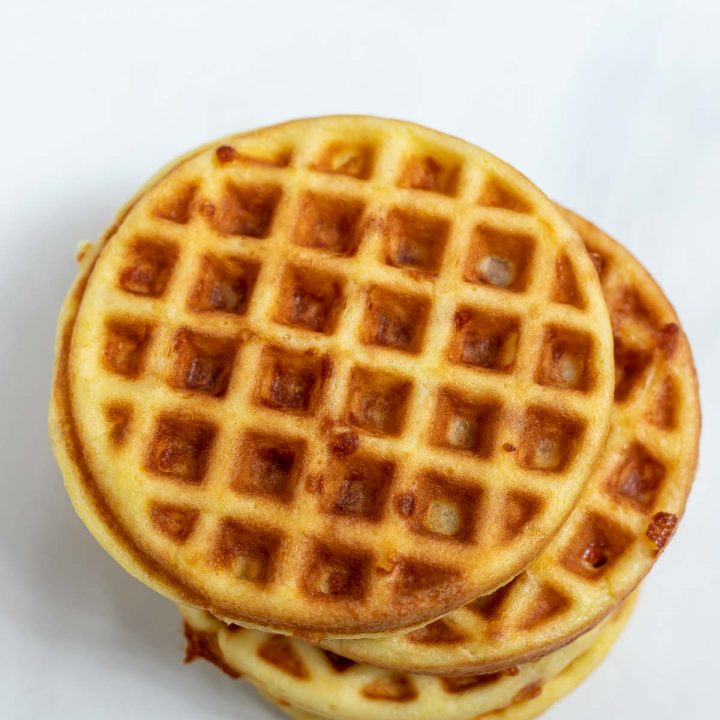 low carb waffles stacked